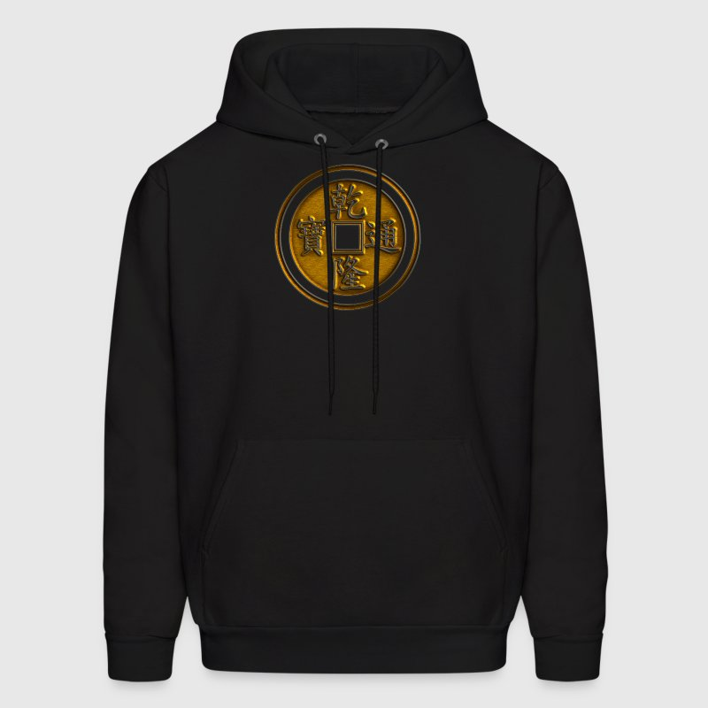 Lucky Chinese coin, Feng Shui, wealth, finance Hoodies - Men's Hoodie