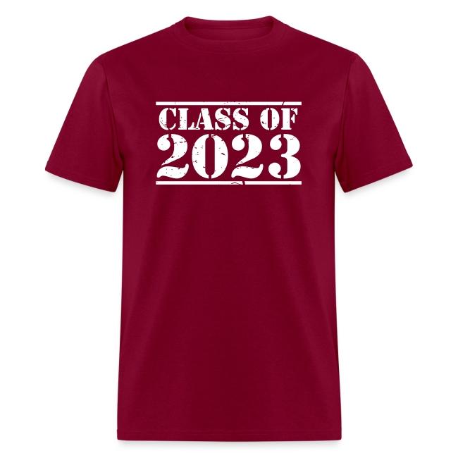 Class of 2023 distressed grad logo