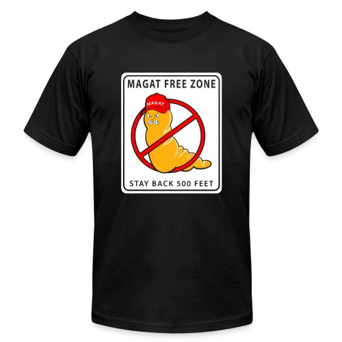 Magat Free Zone anti-Trump Mens Jersey T-shirt - Men's  Jersey T-Shirt