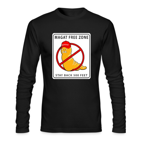 Magat Free Zone anti-Trump Mens Long Sleeve T-shirt - Men's Long Sleeve T-Shirt by Next Level
