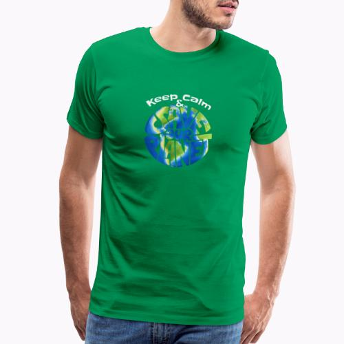 Keep Calm & Save Our Planet - Men's Premium T-Shirt