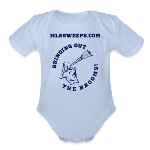 MLBSweeps.com Baby Outfit - Organic Short Sleeve Baby Bodysuit