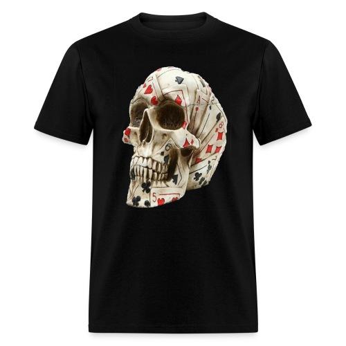 Poker Cards Skull - Men's T-Shirt