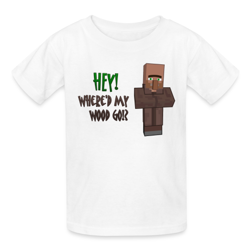 Where'd My Wood Go!? - Kids Shirt - Kids' T-Shirt