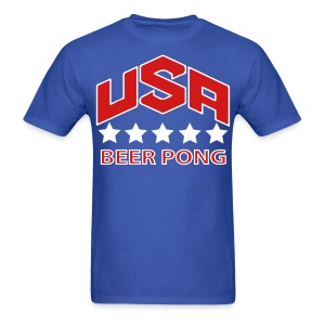 USA Beer Pong - Men's T-Shirt