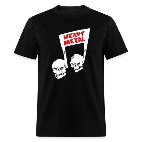 Heavy Metal music note skulls - Men's T-Shirt