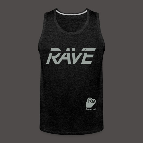 Premium Rave Tank Top - With Re:Sound Logo - Grey Text - Men's Premium Tank