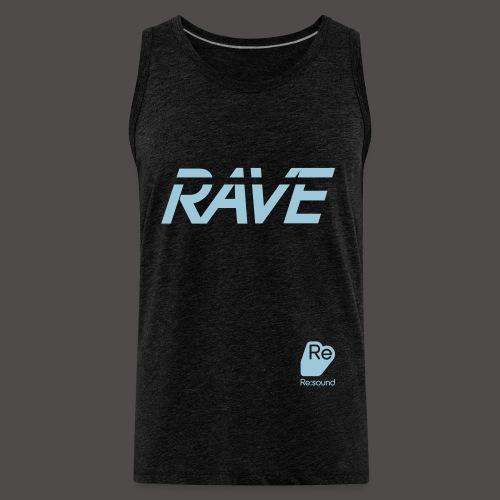 Premium Rave Tank Top - With Re:Sound Logo - Pale Blue Text - Men's Premium Tank