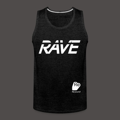 Premium Rave Tank Top - With Re:Sound Logo - White Text - Men's Premium Tank