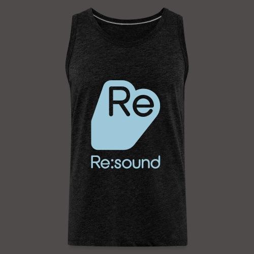 Premium Tank Top with Re:Sound Logo in Pale Blue Text - Men's Premium Tank