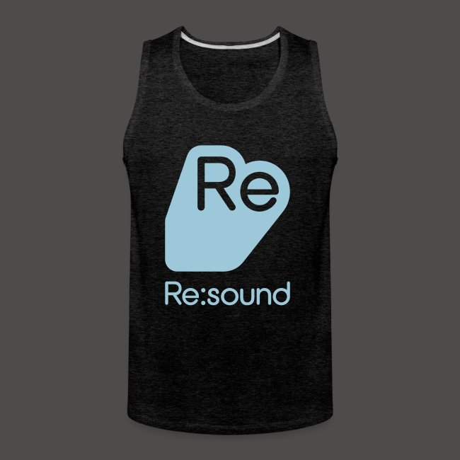 Premium Tank Top with Re:Sound Logo in Pale Blue Text