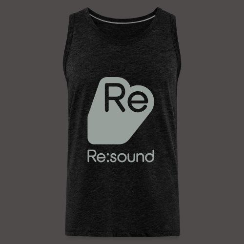 Premium Tank Top with Re:Sound Logo in Grey Text - Men's Premium Tank