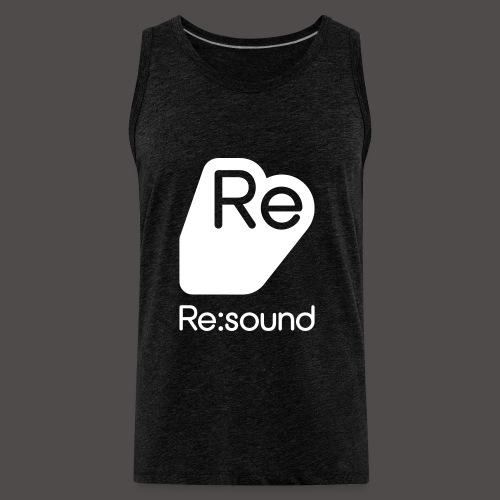 Premium Tank Top with Re:Sound Logo in White Text - Men's Premium Tank