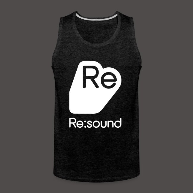 Premium Tank Top with Re:Sound Logo in White Text