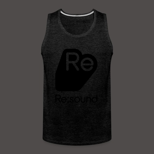 Premium Tank Top with Re:Sound Logo in Black Text - Men's Premium Tank