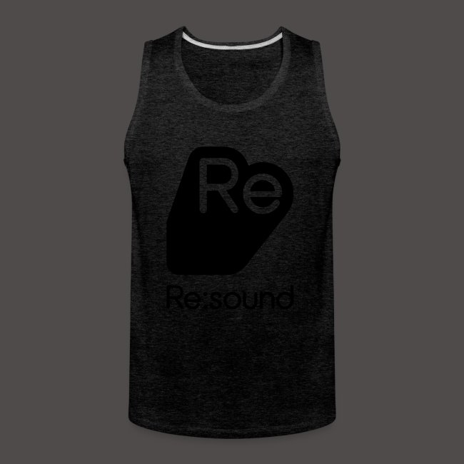 Premium Tank Top with Re:Sound Logo in Black Text