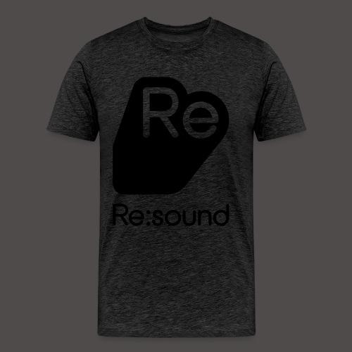 Premium T-Shirt with Re:Sound Logo in Black Text - Men's Premium T-Shirt