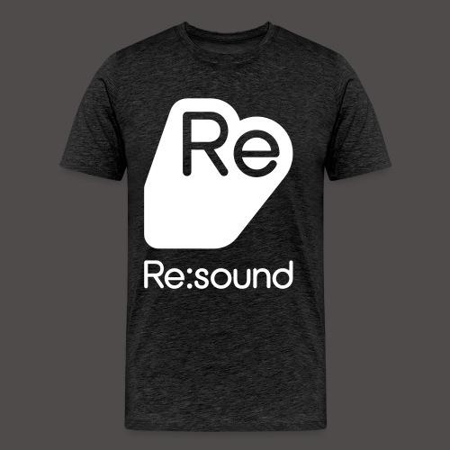 Premium T-Shirt with Re:Sound Logo in White Text - Men's Premium T-Shirt