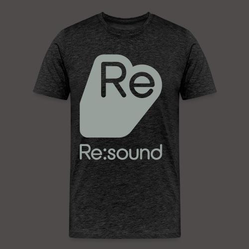Premium T-Shirt with Re:Sound Logo in Grey Text - Men's Premium T-Shirt