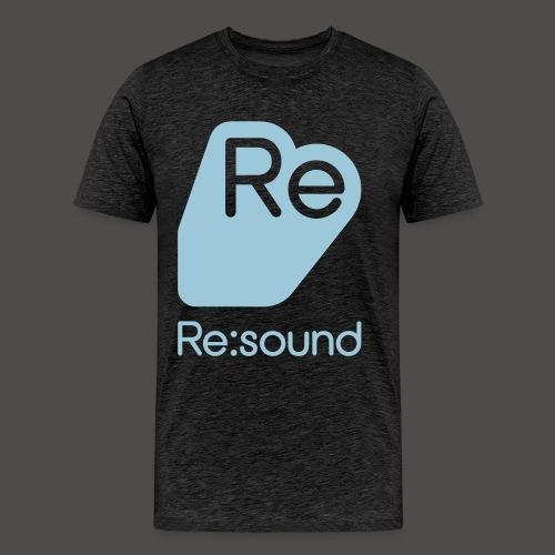 Premium T-Shirt with Re:Sound Logo in Pale Blue Text - Men's Premium T-Shirt