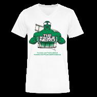 T-Shirts ~ Men's V-Neck T-Shirt by Canvas ~ Swole Nerd New GREEN- V NECK