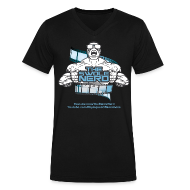T-Shirts ~ Men's V-Neck T-Shirt by Canvas ~ Swole Nerd NEW- V NECK