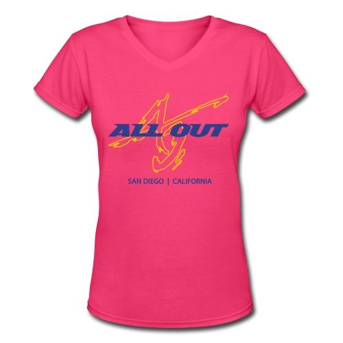 AO SD Women's V-Neck T - Women's V-Neck T-Shirt