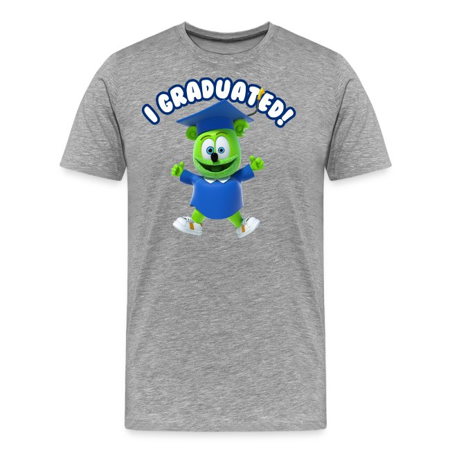 I Graduated! Men's T-Shirt Gummibär (The Gummy Bear) T-Shirt