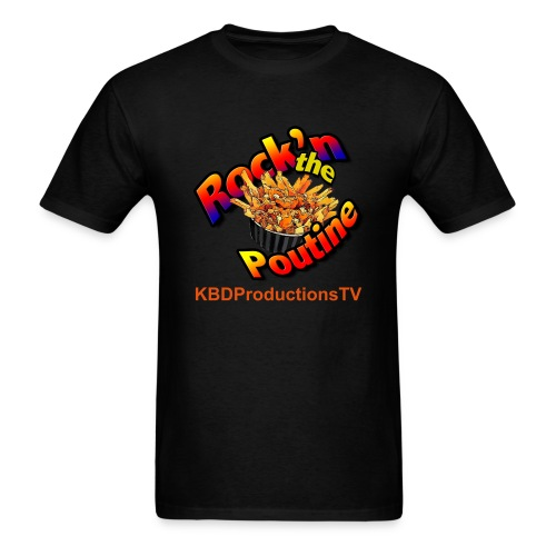 Rock'n the Poutine Black - Men's T-Shirt