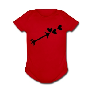 Cupid arrow & hearts Baby Short Sleeve One Piece - Short Sleeve Baby Bodysuit