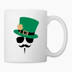 Go Green Moustache Bottles & Mugs