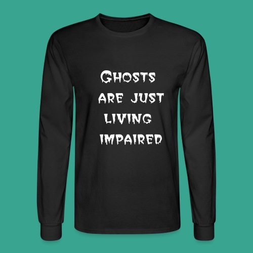 Men's Long-sleeve T-shirt with Living Impaired - Men's Long Sleeve T-Shirt