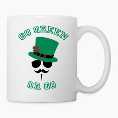 Go Green Moustache 2 Bottles & Mugs