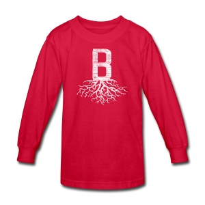 B with Roots - Kids' Long Sleeve T-Shirt