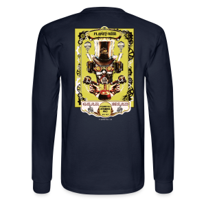Planet Beer Gear Head Steampunk Strong Ale Men's Long Sleeve T-Shirt (Double Sided) - Men's Long Sleeve T-Shirt