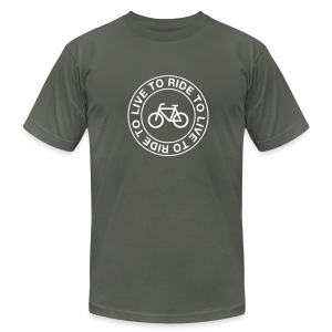 live to ride to T-Shirts - Men's T-Shirt by American Apparel