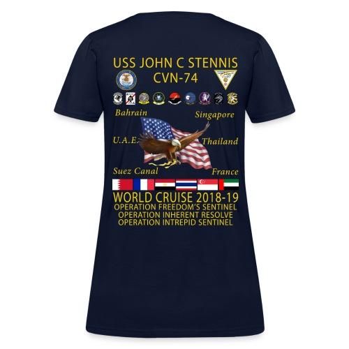 USS JOHN C STENNIS 2018-19 WORLD CRUISE SHIRT - WOMENS - Women's T-Shirt