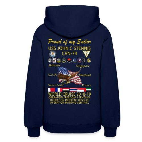 USS JOHN C STENNIS 2018-19 WORLD CRUISE HOODIE - WOMENS FAMILY EDITION - Women's Hoodie