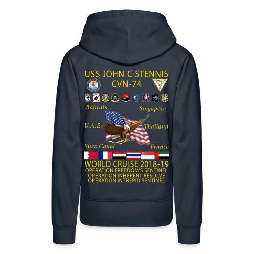 USS JOHN C STENNIS 2018-19 WORLD CRUISE HOODIE - WOMENS - Women's Premium Hoodie