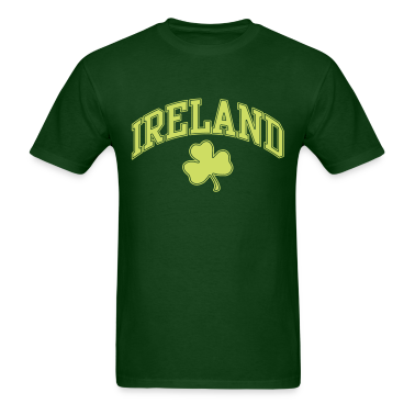 Ireland with Shamrock T-Shirts
