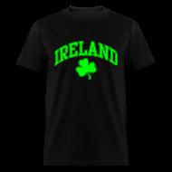 T-Shirts ~ Men's T-Shirt ~ Neon Green/Black Ireland T-Shirt