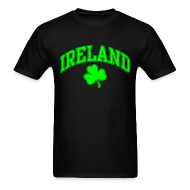 T-Shirts ~ Men's T-Shirt ~ Neon Green/Black Ireland T-Shirt