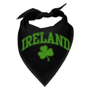 Green Glitter Ireland Dog Hankie - Bandana