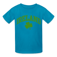 Kids' Shirts ~ Kids' T-Shirt ~ Glitter Green Ireland Kids T-Shirt