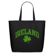 Bags & backpacks ~ Eco-Friendly Cotton Tote ~ Green Sparkle Ireland Tote Bag