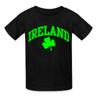 Kids' Shirts ~ Kids' T-Shirt ~ Neon Green Ireland Kids T-Shirt