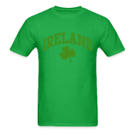 T-Shirts ~ Men's T-Shirt ~ Glitter Green Ireland T-Shirt