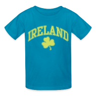 Kids' Shirts ~ Kids' T-Shirt ~ Shimmer Lime Green Ireland Kids T-Shirt