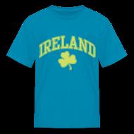 Kids' Shirts ~ Kids' T-Shirt ~ Shimmer Lime Green Ireland Kids T-Shirt