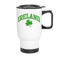 Mugs & Drinkware ~ Travel Mug ~ Green and White Ireland Mug